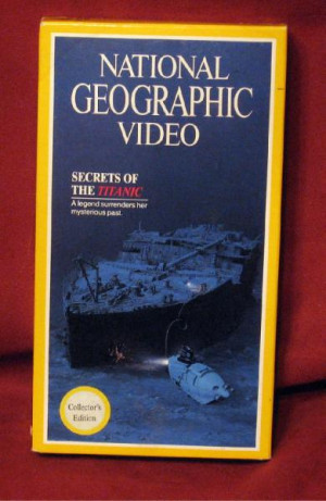 National Geographic Video Secrets Titanic Collector VHS