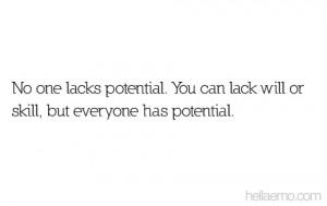 No One Lacks Potential