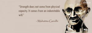Mahatmagandhi Leadership Quote Fb Cover#2