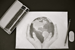 drew a world for him, a world in which he was still somehow the ...