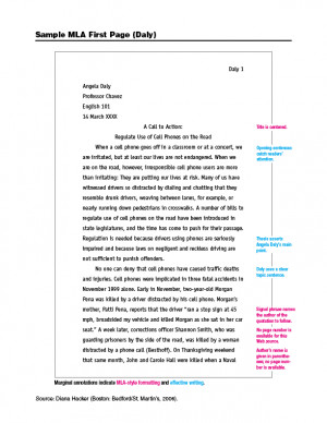 Summary essay in mla format