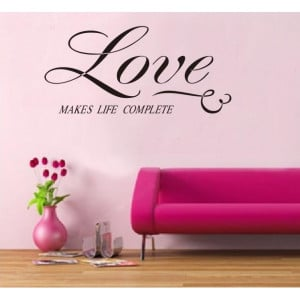 Home DECOR > Wall Decor > Wall Decals & Stickers > Love Quote Living ...
