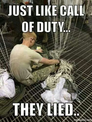 Call of Duty. Army. Um. Not quite.
