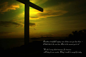 divine Jesus quotes with cross wallpaper