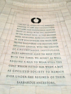 ... the southeast quadrant of the Jefferson Memorial in Washington, D.C