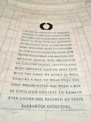... the southeast quadrant of the Jefferson Memorial in Washington, D.C