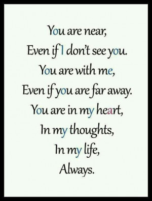 Your in my thoughts...