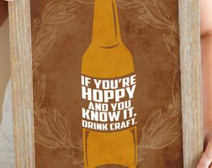 Beer Quote Art Print, Beer Sign, Craft Beer Art, Funny Beer Quote 11 x ...