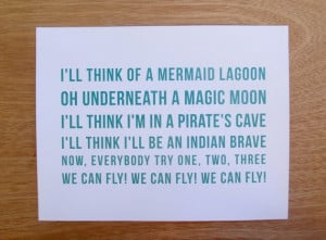 Peter Pan Quote // You Can Fly // Nursery Art Print for Boys and Girls ...