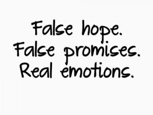 false hope false promises