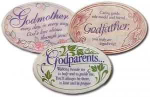 Baptism Godmother, Godfather, and Godparents Plaques