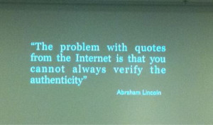 problem with quotes from the internet is that you cannot always verify ...