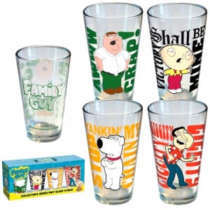 Family Guy Quotes Pints (4 Pack)