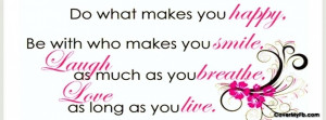 Happy Life Quotes And Sayings For Facebook #1