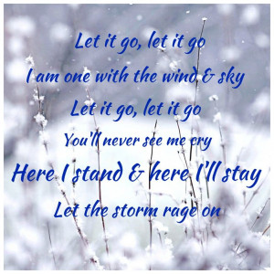 Frozen quote...my favorite part of the song!