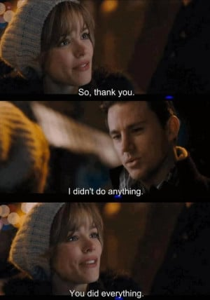 ... As Paige Thanks Channing Tatum As Leo In The Romantic Film, The Vow