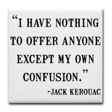 Jack Kerouac Quote Tile Coaster for