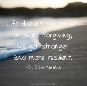 We get stronger... #quote Steve Maraboli