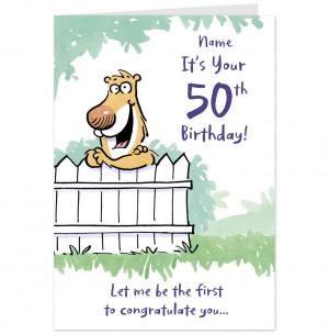 Happy 50th Birthday Funny 50th birthday card