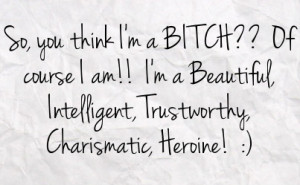 Bitch Facebook Status On Paper Background