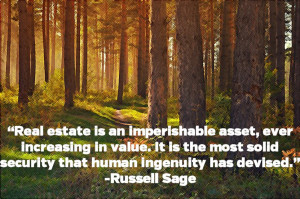 Russel Sage: Imperishable Asset | Real Estate Image Quote