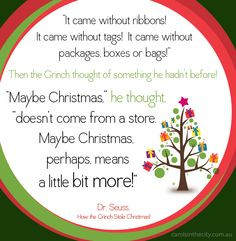 Grinch Christmas. #christmas #quotes #grinch #seuss