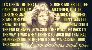 Samwise Gamgee is the solid rock to Frodo Baggins' airy courage, and ...