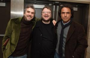 Alfonso Cuarón, Alejandro González Iñárritu and Guillermo del Toro