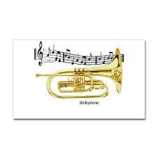 Mellophone Music Rectangle Sticker for