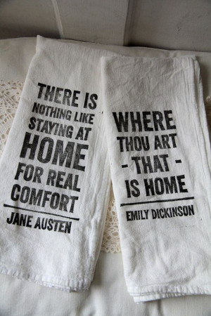 Flour Sack Tea Towels Home Quotes set of 2 by quotesandnotes, $18.00