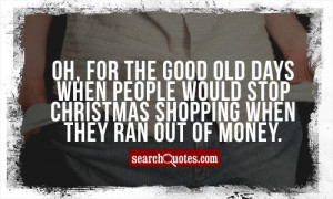 Funny Christmas Shopping Quotes