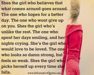 She's the girl who would love to be loved