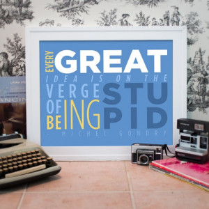 Michel Gondry Inspirational Quote Typography by FancyBeastDesigns, $20 ...