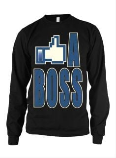 Like A Boss Facebook Slogans Sayings Funny College Humor Mens Thermal
