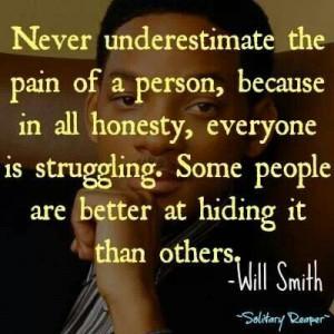 Hiding the hurt