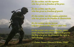 This poem defined that soliders who are not reporter who has given us ...