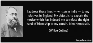 Wilkie Collins Quote