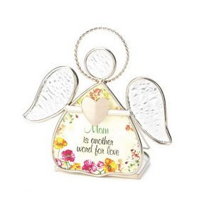... Creations 15291 Floral Halo Angel Mom Quote Tea Light Candle Holder