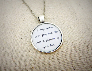 Macy Gray - I Try Inspired Lyrical Quote Pendant Necklace