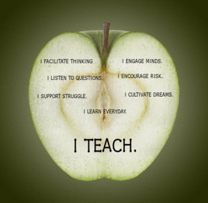 Teacher, quotes, sayings, i teach, inspirational, apple