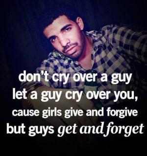 don't cry over a guy..