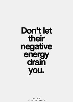 Hear hear! I've got no time for negative vibes! More