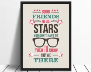 Print, Long Distan ce Friends, Friend Gift, Personalised Friends Print ...