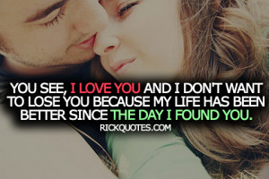 Love Quotes   Since I Found You Couple Love hug Kiss romantic