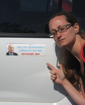 Pro Obama Bumper Stickers Pro-mccain bumper sticker