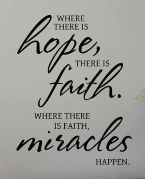Have Faith Miracles Quote