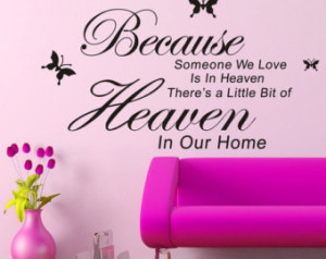 Heaven Wall Decal, RIP Rest in Peac e Wall Stickers, Heaven Wall Decor ...