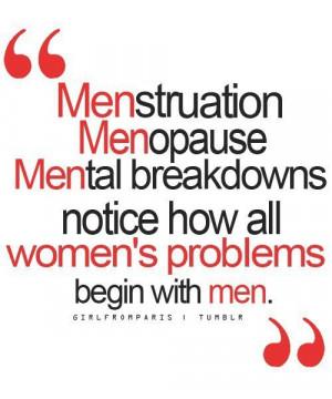Waar vrouwenproblemen vandaan komen