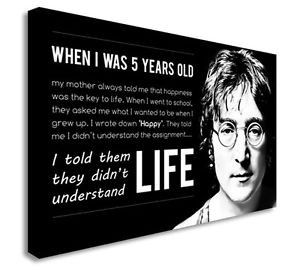 John-Lennon-When-I-Was-5-Years-Old-Quote-Canvas-Art-Picture-Art-Cheap ...