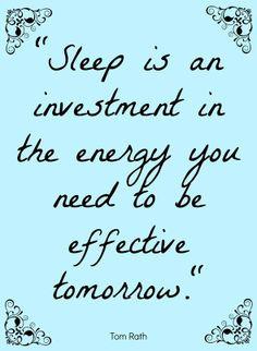 Importance Of Sleep Quotes Sleep!